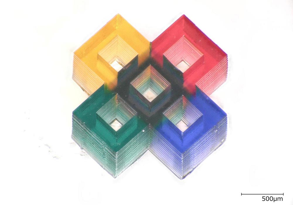 Researchers 3D print tiny multicolor microstructures - Innovations Report